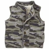 Mud Pie Camo Print Vest Boys Sherpa Fleece Lined Outerwear New