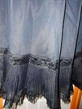 Vtg Van Raalte Half Slip Black Crystal Pleat Accordian Lace Hem Sz S Lingerie