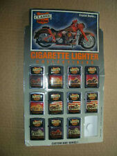 1994 Classic Iron Cigarette Lighters Store Display Stand+11 Motorcycle Lighters!