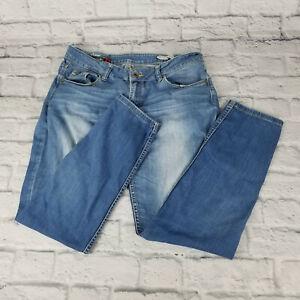 Diesel Clothing Women's Jeans Low Rise Light Wash Straight Leg Size US W34 X L30
