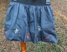 Girls OshKosh B'Gosh Gray Bubble Skirt with Stars and Hearts Sequins size 7