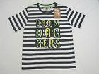Boom Doggers Boys Short Sleeve Striped T Shirt Tee sizes 12 14 16 Grey White
