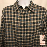 Marmot Fairfax Midweight Mens Small Long Sleeve Flannel Shirt Moonstruck NWT $60
