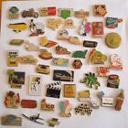 PINS LOT DE 50 PIN'S VINTAGE THEMES DIVERS MISCELLANEOUS BADGES wxc cag g/11