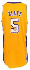 2012-13 Steve Blake Los Angeles Lakers Game-Used Home Jersey (Jerry Buss Patch)