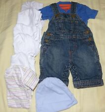 Baby Boy Oshkosh Overalls & T-Shirt Lot 3-6 mos