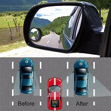 2 PC Clear Car Rear View Mirror 360 Rotating Safety Wide Angle Blind Spot Mirror