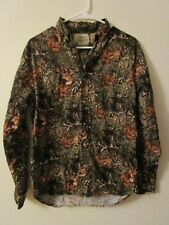 FIELD TESTED OUTDOOR LIFE Mens Small Shirt 34/36 Deer Camo LS Cotton Hunting EUC