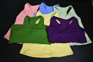 Lot Of 6 Lululemon Athletica Sz 10 Sports Bra Athletic Active Workout Tank Tops