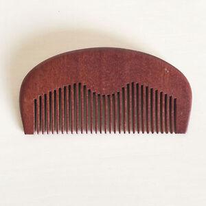 Customize Logo-Wood Beard Comb Wholesale Red Pocket Amodong Wood Comb 100/lots