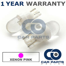 2X PINK W5W 501 SIDELIGHT NUMBER PLATE INTERIOR REPEATER DOME LED BULBS