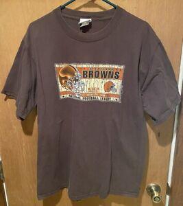Vintage NFL Cleveland Browns AFC North All American Team Mens Large T-Shirt  VF