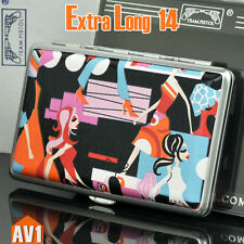 Fashion Lady Cigarette case 14 filters holder. PU leather extra long. for 100mm.