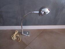 Lampe de bureau ancienne,métal chromé