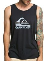 QUIKSILVER MENS VEST TOP.NEW WAVES BLACK TANK COTTON SURF GYM T SHIRT 9S 86KV