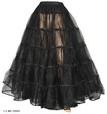 """New Black Crinoline 4 Victorian Civil War Dress Size XL/3X W40""""-55""""  Length 40"""""""