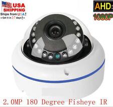 US stock HD 1080P 2.0MP AHD Camera 180 Degree Fisheye Dome IR Cyan Led camera