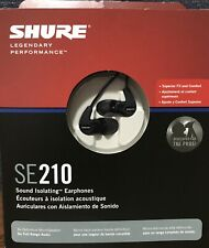 New - Shure SE210 Sound Isolating Earphones With Case - FREE SHIPPING
