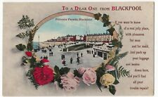 Blackpool; Princess Parade PPC By Valentines, 1920 PMK To Mrs Ley, Cleethorpes