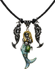 KIRKS FOLLY LAILA'S DREAM GIRLS MERMAID CORD NECKLACE silvertone