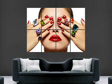 NAIL SALON SPA POSTER  MANICURES HEALTH BEAUTY  WALL LARGE IMAGE GIANT