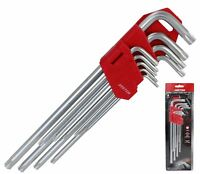 Dekton Extra Long  Star Torx Allen Key Security Wrench Set  T10 - T50 9 Pc Keys