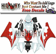 Red White Black Fairings For Yamaha YZF R6 06 07 ABSPlastic Bodywork Fairing Kit