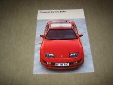 Nissan 300 ZX Twin Turbo Prospekt Brochure von 4/1990, 36 Seiten