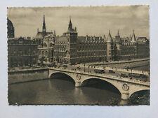 Paris France Vintage B&W Postcard 1939 Le Pont au Change +period bus & cars