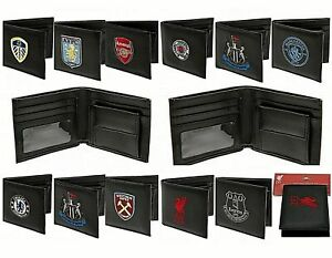 FOOTBALL WALLET - LEATHER MONEY SPORT COIN PURSE - LIVERPOOL/ARSENAL ETC.