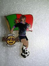LISBON,Hard Rock Cafe Pin,2006 Worlds Soccer Cup Series with Flag