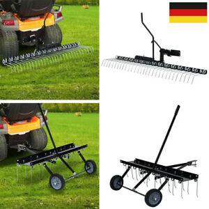 Rasenstriegel Rasenkamm Entmooser Vertikutierer Anbau für Traktor ATV 100-120CM