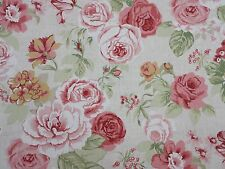Clarke and Clarke Genevieve Old Rose Design Curtain Upholstery Craft Fabric