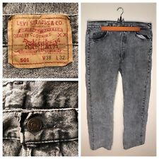 8c1ff150093fc4 Vintage 80's Levis 501 Acid Wash Blue Jeans Button Fly Made in USA Men's 36  x