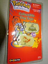 New Sealed Pokemon Collectible Dog Tags #77 Ponyta 1999