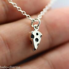 CHEESE NECKLACE - 925 Sterling Silver - Mouse Cheese Cute Charm Pendant Mice NEW
