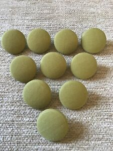 *CLEARANCE* 10 Pistachio Green Polycotton 36L/23mm Upholstery Buttons