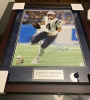 Jarrett Stidham Autographed Signed New England Patriots 16x20 Photo Framed JSA