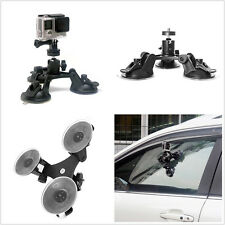 1XMini Triple Suction Cup Car Pickup Glass Window Mount Bracket For GoPro Camera