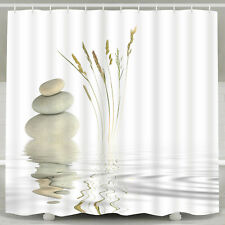 Bathroom Waterproof Shower Curtain Nature Print Curtain with Hooks Home Decor