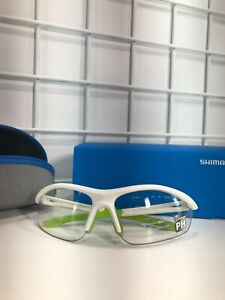 Shimano Sunglasses CES20R-PH Matte White/ Light Green/ Clear New in Box