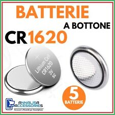 5 BATTERIE AL LITIO CR1620 3V VOLT PER OROLOGIO AUTO STOCK PILE 1620 A BOTTONE
