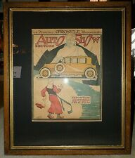 Antique Rare Original 1923 San Francisco Chronicle Auto Show Advertising Poster