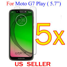 "5x Clear LCD Screen Protector Guard Cover Film For Motorola Moto G7 Play (5.7"")"
