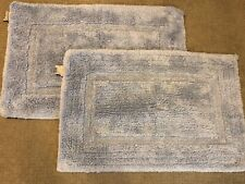 "Set of 2 Pottery Barn Kids Bath Mat Rug Light Blue  34"" x 21"""