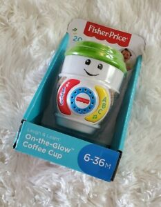 New! Fisher-Price Laugh And Learn On-The-Glow Coffee Cup Lights Up!