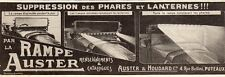 RAMPE AUSTER SUPRESSION PHARES VOITURE AUTO CAR LIGHTS PUB FRENCH AD 1914