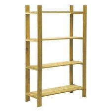 Core SSU4 Natural Wood 4 Shelf Slatted Storage Unit