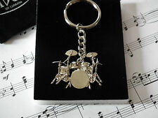 Drum Kit keyring Silver Metal Music Gift awesome detail Perfect drum gift