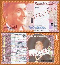 Specimen, Kamberra, Kingdom, 1 Numisma, 2003, UNC > Louis de Funes